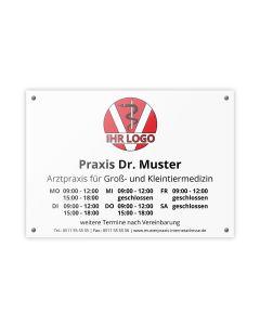 Praxisschild - PVC Hartschaum A3 mit Befestigungs-Set
